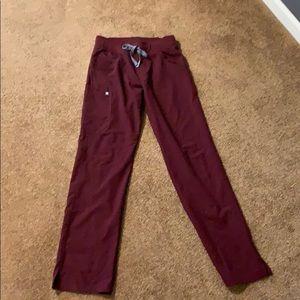 Burgundy FIGs kade scrub pants